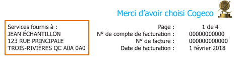Adresse de facturation