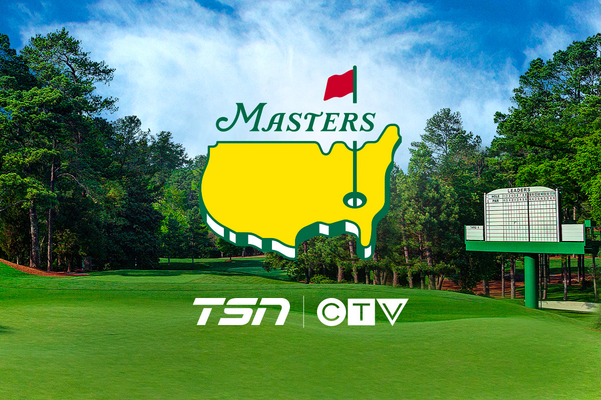 The Masters on TSN April 8-11th