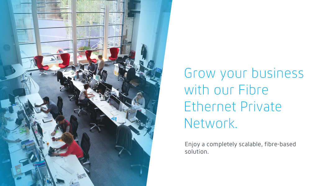 Grow your business with our Fibre Ethernet Private Network.  Enjoy a completely scalable, fibre-based solution.