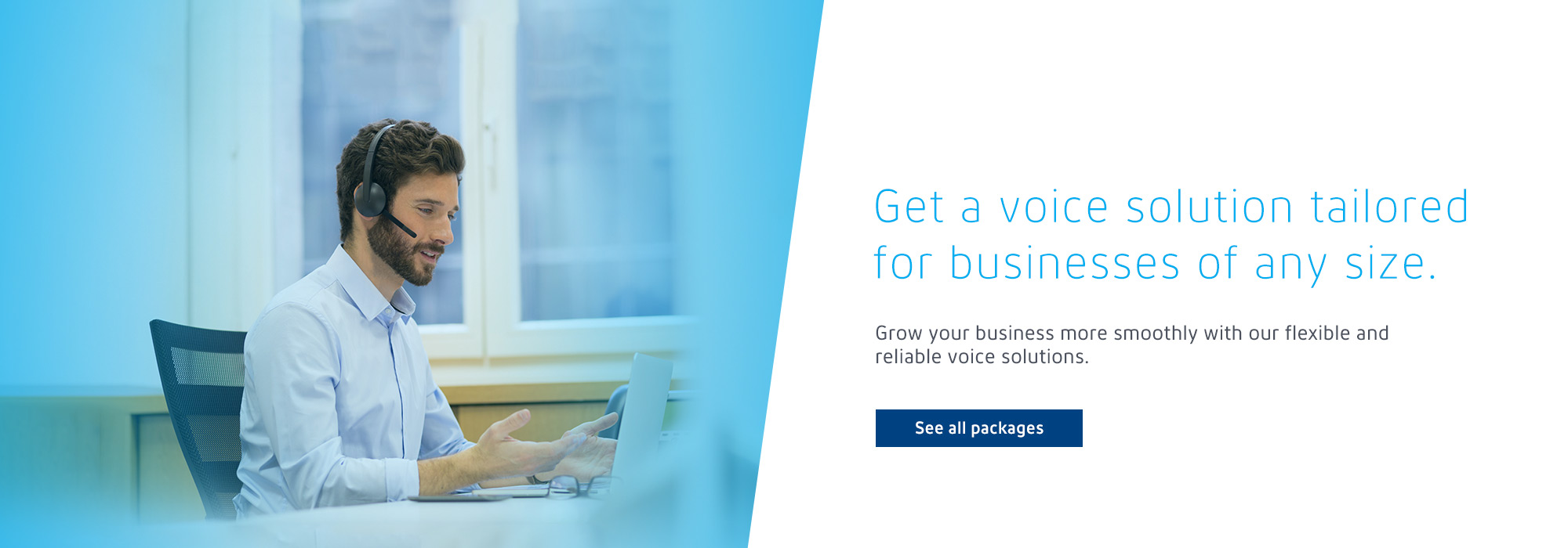 Get a voice solution tailored for businesses of any size.