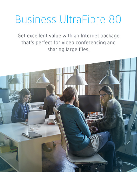 Business UltraFibre 80, Cogeco Business Internet package