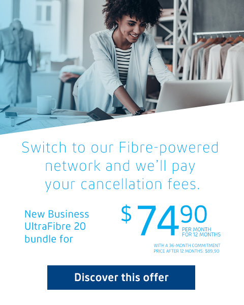 Switch to our Fibre-powered network and we'll pay your cancellation fees.