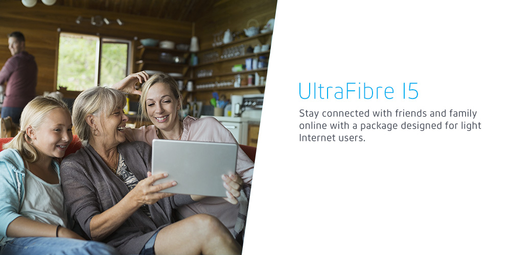 Stay connected with friends and family online with a package designed for light Internet users.
