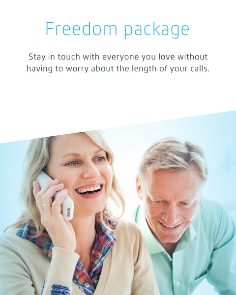 Stay in touch with everyone you love without having to worry about the length of your calls.