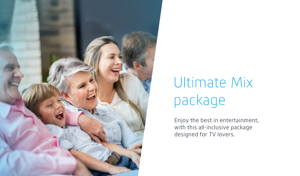 Enjoy the best in entertainment, with this all-inclusive package designed for TV lovers.