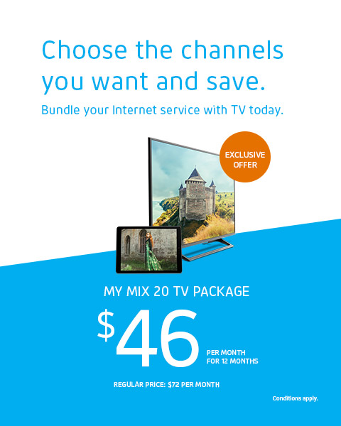 Bundle your Internet service with TV today.