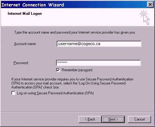 how to change outlook express from pop3 to imap