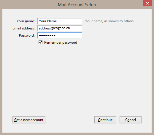 how to set up cogeco email