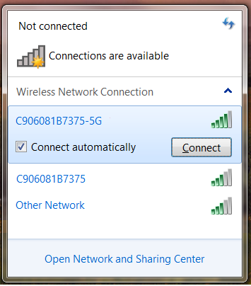 Select Wi-Fi Network