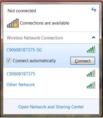 Select Wi-Fi Network