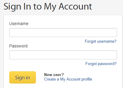 My Account - Sign In
