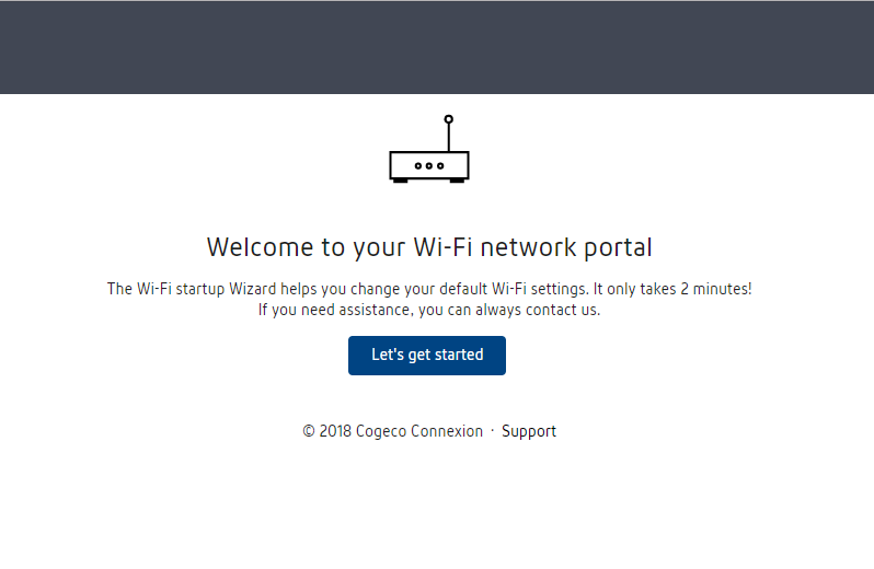 Welcome to your Wi-Fi network portal