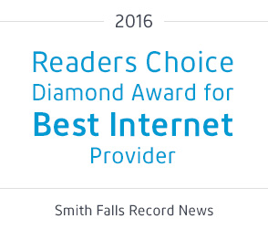 Readers Choice Diamond Award for Best Internet Provider - Smith Falls Record News