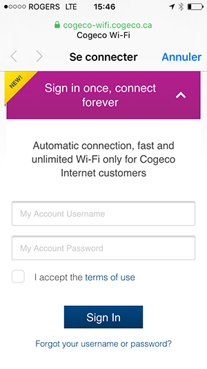 WiFi Cogeco Subscriber EN