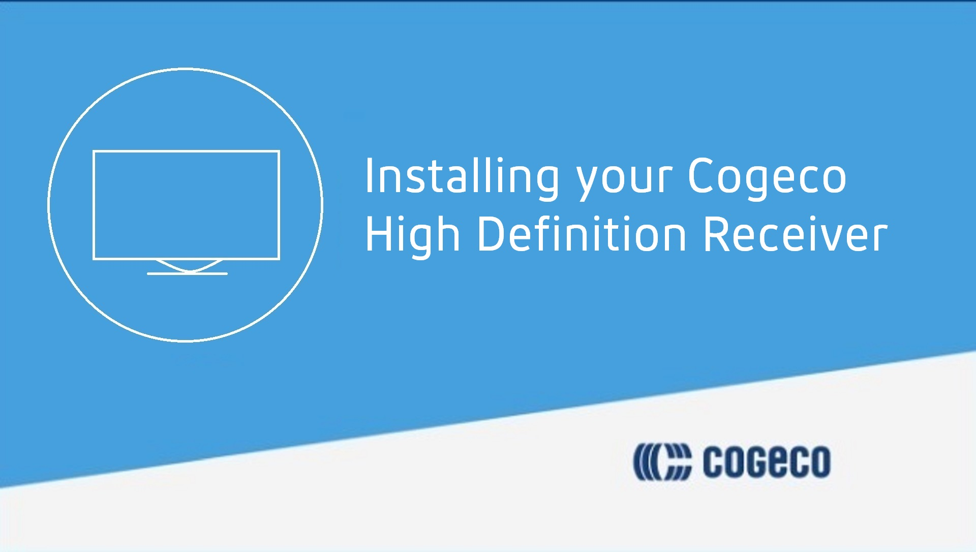 How do I set up my HD receiver from Cogeco?