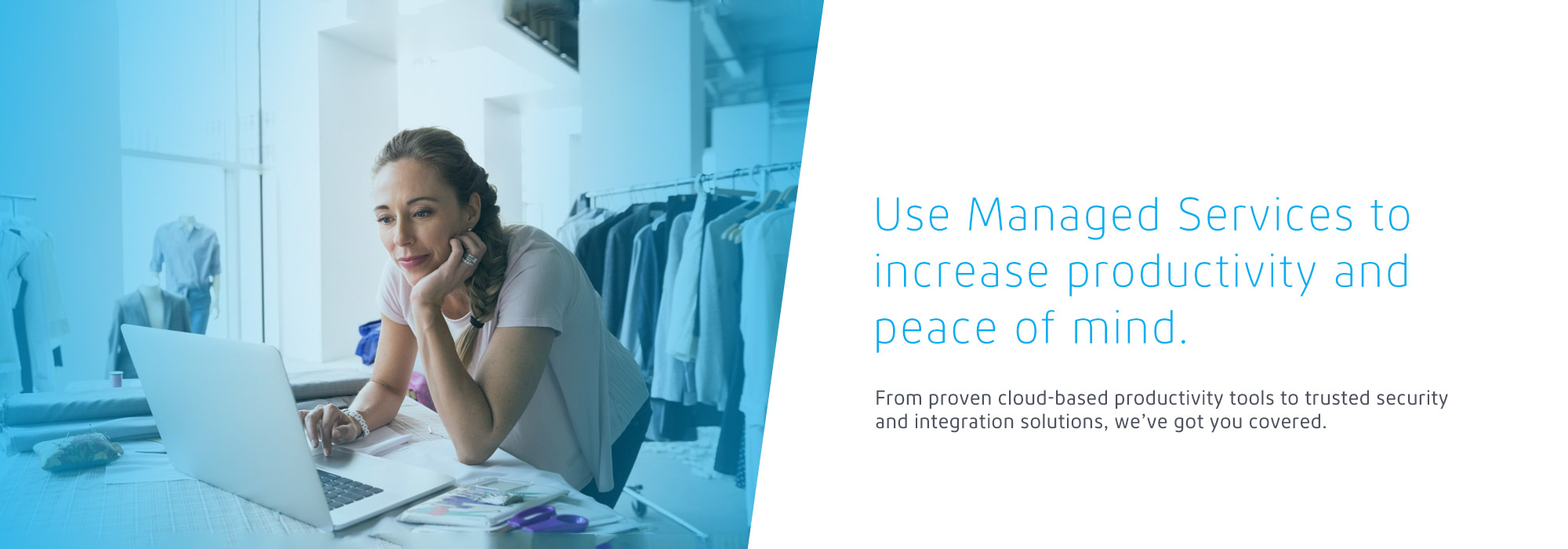 Be more productive with Cogeco Managed Services. From the best cloud-based productivity tools on the market to trusted security and integration solutions, we've got you covered.